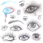 Как рисовать стилизованные глаза. Рисунок глаза