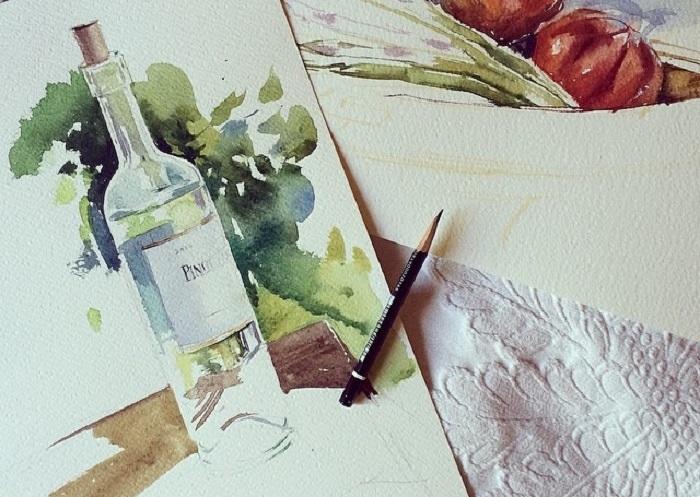 Бесплатные уроки рисования акварелью для начинающих. Как научиться рисовать. Как перестать бояться акварели и начать рисовать. Для самых смелых. Приемы, которые раскрепощают и освобождают вашеговнутреннего художника.