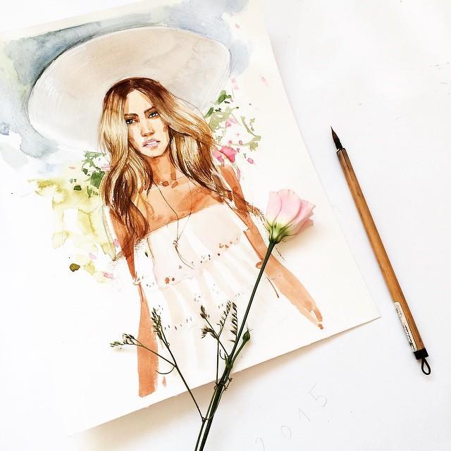 Бесплатные уроки рисования акварелью для начинающих. Как научиться рисовать. Как перестать бояться акварели и начать рисовать. Рисуем портрет. Приемы, которые раскрепощают и освобождают вашеговнутреннего художника.