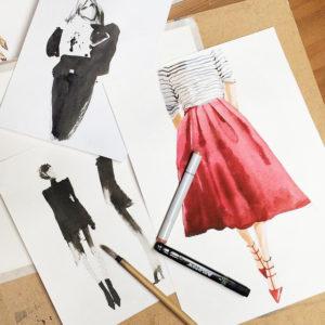 Бесплатные уроки рисования акварелью для начинающих. Как научиться рисовать. Как перестать бояться акварели и начать рисовать. Fashion -illustration/ иллюстрация. Приемы, которые раскрепощают и освобождают вашеговнутреннего художника.